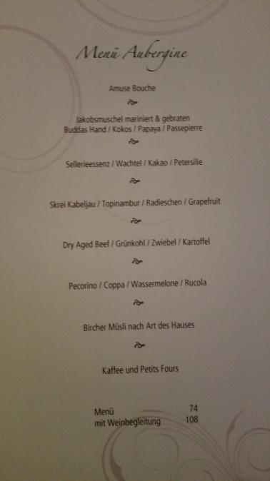 Hotel Vier Jahreszeiten Starnberg - Restaurant Aubergine Menü