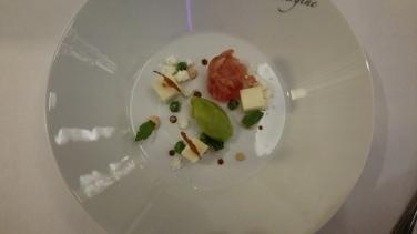 Hotel Vier Jahreszeiten Starnberg - Restaurant Aubergine Käsegang mit Rucola-Eis