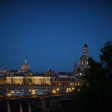 Hotel The Westin Bellevue Dresden Ausblick bei Nacht