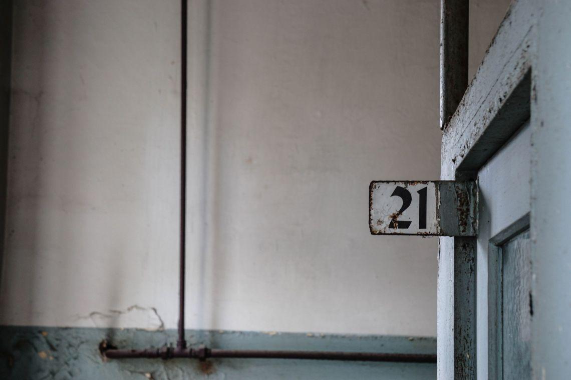 Schild mit Nummer 21